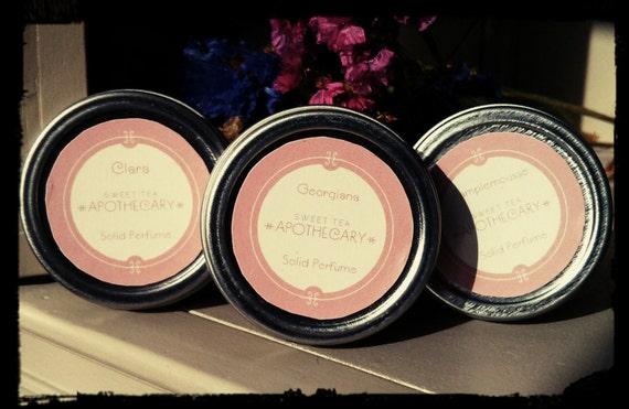 Victoria Solid Perfume - Lavender, Vanilla, Amber Oils
