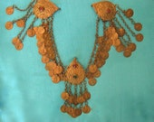 Vintage Indian Mixed Metal Adornment, perhaps for sari or turban
