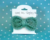 Girls/ Babies Crochet Bow In Greek Sea Teal