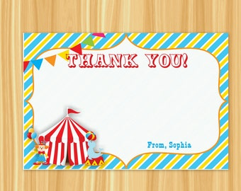 Circus Thank You Card | Carnival Thank You Card