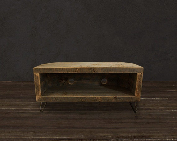 Reclaimed Wood Media Console / CORNER UNIT By AtlasWoodCo