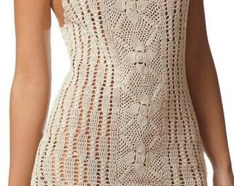 Crochet women summer dress