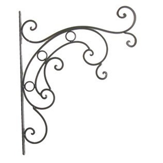 Items Similar To Iron Bracket, Plant Hanging Bracket