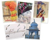 Poetic India - set of 5 glossy postcards 10x15cm with clips