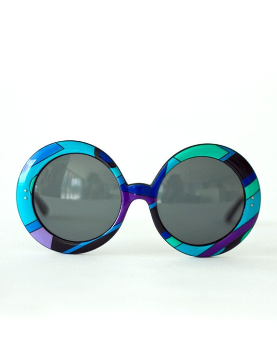 Do NOT buy, resered for CATHY super rare & incredible vintage 1960s PUCCI mint condition graphic print mod sunglasses collector's item