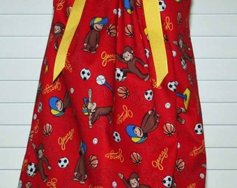 Featuring Curious George - Pillowcase Dress - Sizes 3 months thru 6/7 :CH050