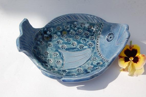 Ceramic fish bowl uk decorative fish pottery made in uk beach for Decorative fish bowls