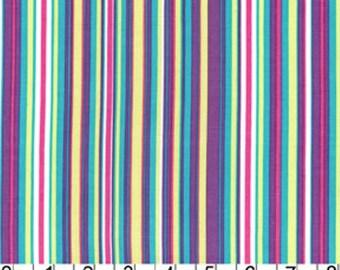 Michael Miller Happy Tones Play Stripe in Malibu 1 Yard Cut