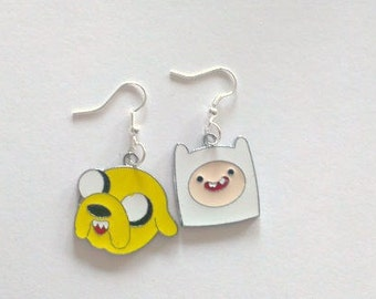 Adventure Time Finn and Jake Earrings