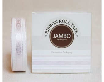 Adhesive Flora Baby Pink ribbon roll deco tape by J&Bobbin