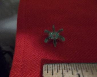 Green Clear Flower Bead-11 per bag