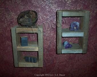 Reclaimed Wood Wall Cubby - Barnwood Wall storage - Barn Wood knick knack shelf