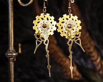 Steampunk Clockwork Gear Earrings
