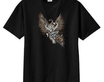 Gothic Winged Tiger New T Shirt, S M L XL 2X 3X 4X 5X, Cool Tattoo Art