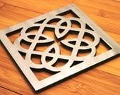 Celtic Knot Trivet, Stainless Steel, Irish, Gaelic