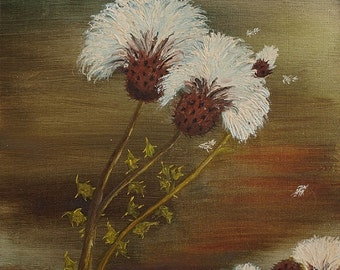 Original signed Irish Oil Painting by Artist MARIE LEWIS - Dandelion  2