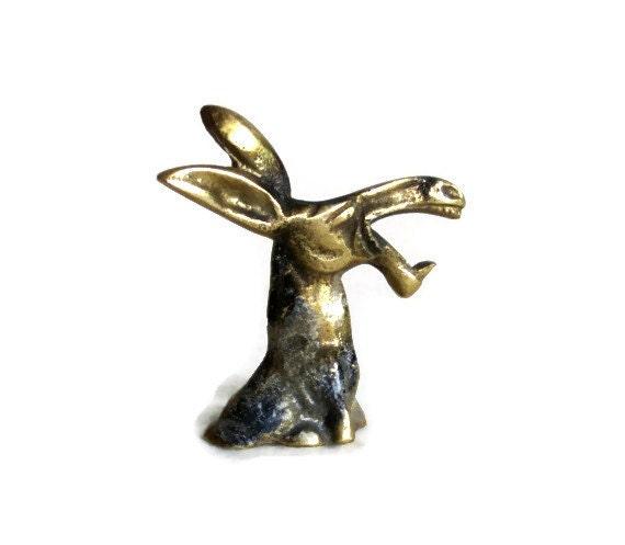 donkey bottle cap opener vintage brass jackass animal. Black Bedroom Furniture Sets. Home Design Ideas