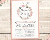 Custom Printable VINTAGE Bridal Shower Invitation