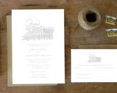 "DIY Printable Wedding Invitation & Response Postcard ""Country Charm"""