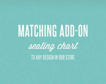Matching Add-On Seating Chart - DIY Printable Stationery