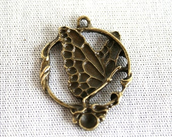 5 Antique Bronze Butterfly Pendant/Charms