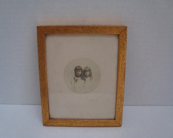 Vintage Framed Photo - Two Sisters