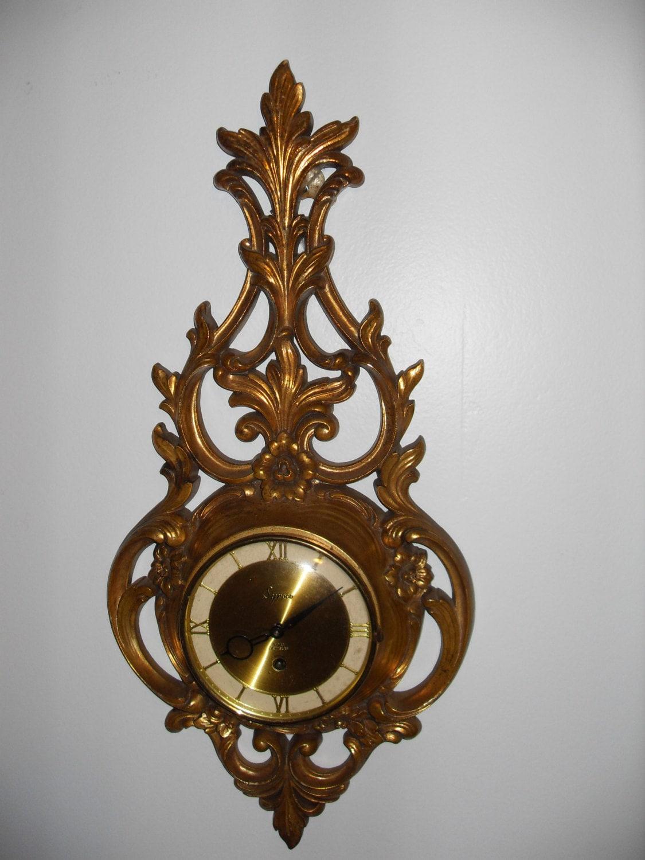 Vintage Hollywood Regancy Syroco Wall Clock
