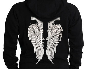Adult Hoodie / Angel Wings with Guns