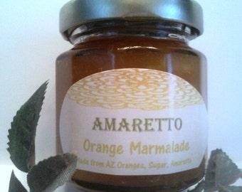 Orange Amaretto Marmalade- 4 oz Jam Sampler/ Wedding Jam Favor/ Welcome Wedding Gift Bags//Treasury Item