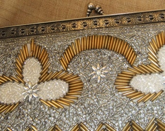 Vintage Handmade Beaded Purse