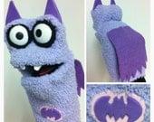 Purple Batgirl Sock Puppet