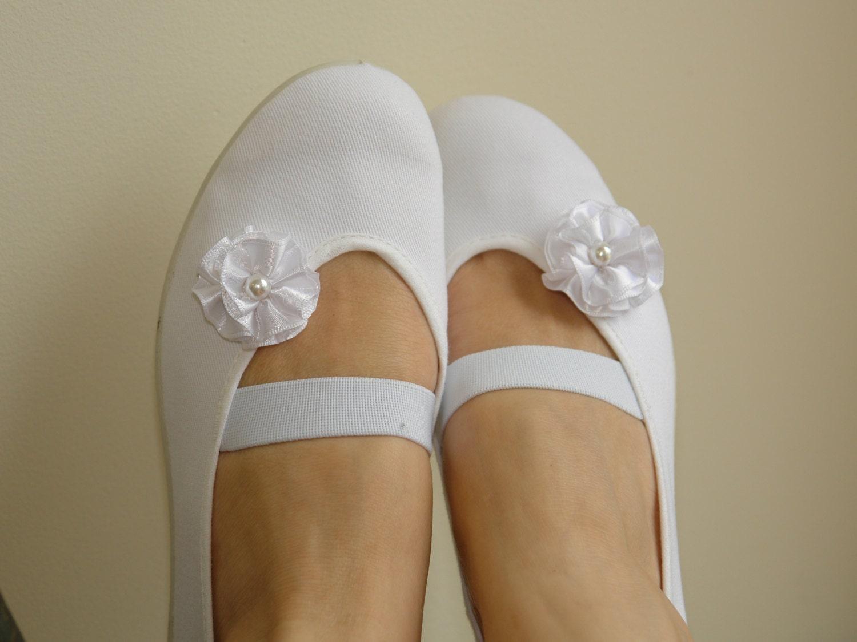 White Ballet Flats Wedding Wedding Ballet Flats Dance