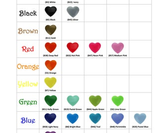 100 Mix and Match Colors of Heart Shaped KAM Plastic Resin Snaps Crafts Baby Cloth Diaper - Choose Your Colors
