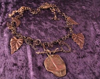 Brass leaves, vines, and tendrils