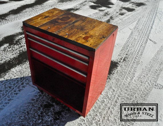 Artist Tool Box Tool Box Side Table/ Tattoo