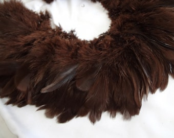 Chocolate Brown Rooster Schlappen Feathers Bulk Supply Wholesale Craft Design Hair Costume