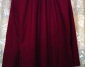 Miss Pendleton Wine BLAZER and SKIRT Size 16. 100% virgin wool
