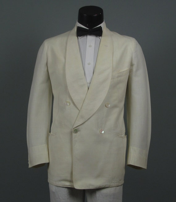 Vintage Mens Dinner Jacket 1930s Authentic Iconic Palm Beach