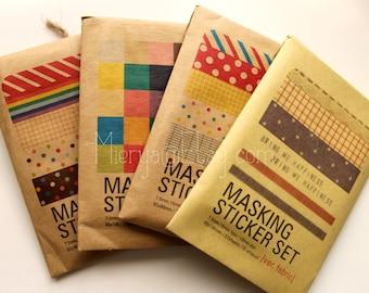 Masking Sticker Set - Deco Sticker Set - Paper Stickers - 4 styles in
