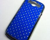 Samsung Galaxy S3 SIII Rich Royal Blue Glam Rhinestone Bling case