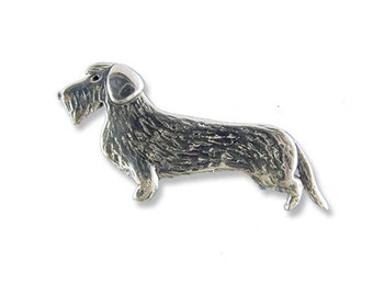 SS  Wirehaired Dachshund Pin