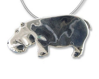 SS Hippo Large Pendant