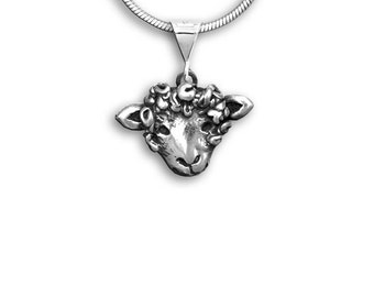 Sterling Silver Sheep Pendant