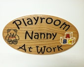 Custom Engraved Oak  Oval Wooden Sign 8 X 15