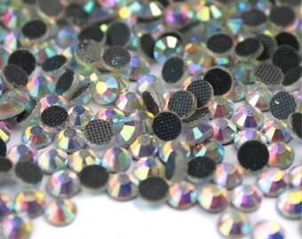 1440pc DMC Hotfix Rhinestones aurore boreale crystal AB wholesale (HOTFIX) 3mm | 4mm | 5mm