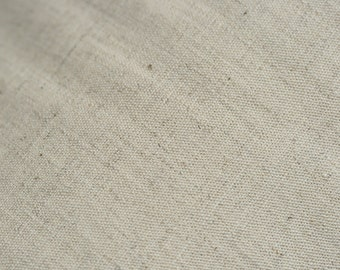 one metre of undyed organic linen/organic cotton poplin fabric 160cm wide