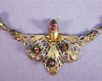 Art Deco Ruby Necklace
