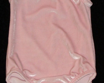 Gymnastics Leotard Babies, Girls and toddlers sizes 6-9 months, 2t and 4-5 only - Light pink velvet