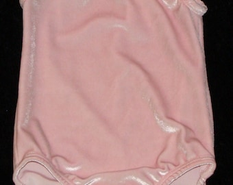 Gymnastics Leotard Babies, Girls and toddlers sizes 6-9 months and 4-5 only - Light pink velvet