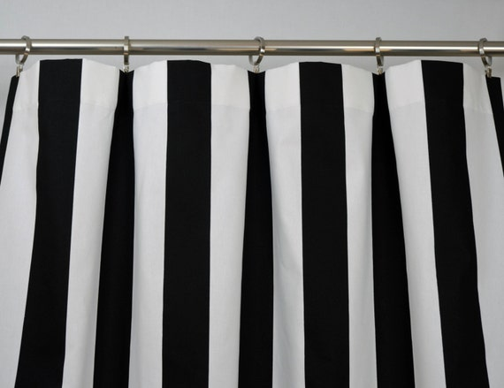 Black White Striped Curtains Vertical Black White Modern Vertical